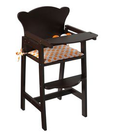 Look at this KidKraft Espresso Lil' High Chair & Pad for 18'' Doll on #zulily today!