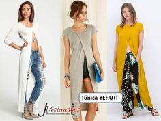 Vestidos Casuales Para Damas - Blusones Largos - Sobretodos - Bs. 12.900,00 en MercadoLibre Fashion Now, Hijab Fashion, Fashion Dresses, Womens Fashion, Pretty Girl Swag, Dress Cuts, Sweater Outfits, Chic Outfits, Casual Looks