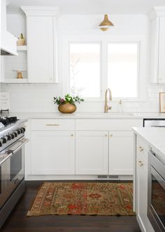 Kitchen design, affordable vintage rugs for home decor #VintageRugs