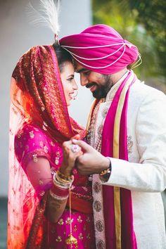 Fuchsia and Orange Wedding in India| PhotozAapki