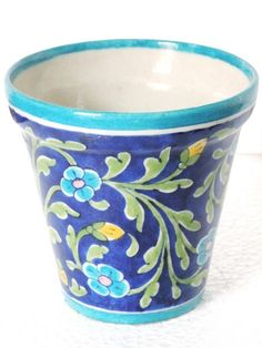 Blue Pottery Planter