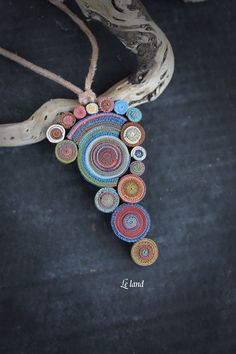 Bohemian Pendant Necklace Statement Necklace one of a kind necklace gypsy Necklace hippie jewelry Unique Gift for her polymer clay pendant