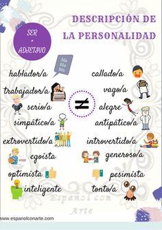 Descripción de la personalidad en www.espanolconarte.com