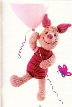 Amigurumi Piglet - F    Amigurumi Piglet - FREE Crochet Pattern / Tutorial in ENGLISH (click on right arrow to get to pattern)