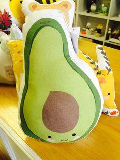 Avocado Pillow by ArtbyMalu on Etsy