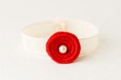 poppy bracelet - poppy tutorial could be useful for a headband