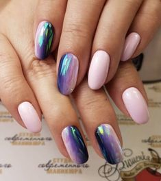Manicure ombre 5 Trendy spring ideas that are worth repeating - The Viral . - Manicure ombre 5 Trendy spring ideas that are worth repeating – The Viral Flow – - Blue Acrylic Nails, Metallic Nails, Teal Nails, Color Nails, Yellow Nails, Nail Polish Designs, Nail Art Designs, Cute Nails, Pretty Nails