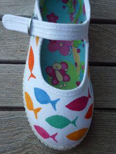 Fish and Chic canvas shoes for girls by La Casa de la Playa