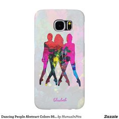 Dancing People Abstract Colors S6 Case Samsung Galaxy S6 Cases