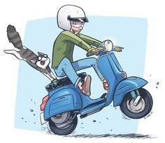 39 Ideas For Motorcycle Art Design Vintage Posters Vespa Lx, Moto Scooter, Vespa Lambretta, Scooter Girl, Vespa Scooters, Piaggio Vespa, Vespa Illustration, Friends Illustration, Motos Vintage
