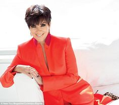Kris Jenner poses in raunchy black lace outfit for magazine shoot as she reveals she wants to feel sexy 'forever' Kourtney Kardashian, Kardashian Family, Kardashian Jenner, Robert Kardashian, Kendall Jenner, Kris Jenner Style, Kylie, Bruce Jenner, Short Haircuts With Bangs