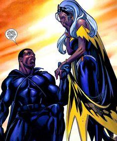 "superheroesincolor: ""Power Couples: Black Panther and Storm // Marvel Comics "" Comic Book Characters, Comic Book Heroes, Marvel Characters, Comic Character, Comic Books Art, Comic Art, Comic Superheroes, Marvel Dc Comics, Marvel Vs"
