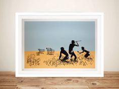 Banksy Trolley Hunters Framed Print by Blue Horizon Prints