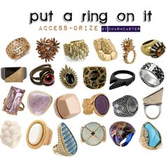 Access-orize: Rings, created by charmporadov22 on Polyvore
