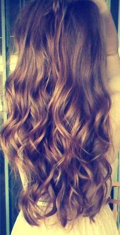 wavy brown hair