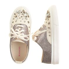 Girls' crystal-embellished glitter sneakers - sneakers - Girl's shoes - J.Crew