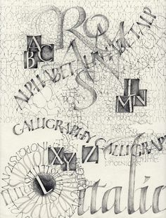 Pencil Exemplar  by Catherine Langsdorf #lettering