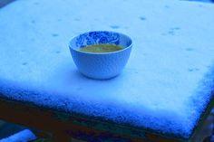 aMuse Rouge: Courgettesoep met tijm en zure room