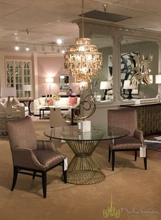 Corbett Lighting's Dolcetti graces this seating area in @CliveDanielHome