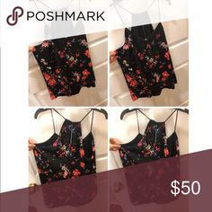Floral tank Cute going out top💖 Reversible to wear too! Tops Tank Tops