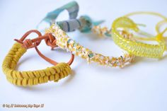 Easy braided bracelet by // Between the Lines //, via Flickr