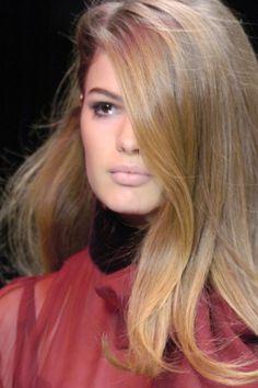 beautiful hair-subtle make up...