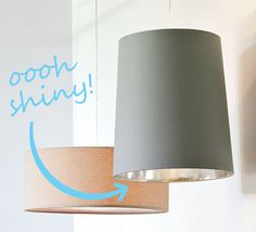how to: reflective interior for lampshade