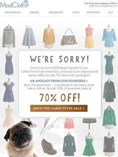 Winston sez: Our 70% off sale is back! - Modcloth