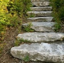 How to create stone steps