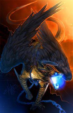 Castiel as a Dragon! by Sempaiko on DeviantArt