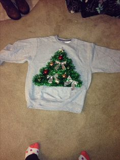 DIY ugly Christmas sweater!