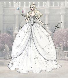 Yigit Ozcakmak Alice in Wonderland: White Queen Mirana Fashion Design Drawings, Fashion Sketches, Disney Style, Disney Art, Queen Alice, Alice In Wonderland Characters, Arte Fashion, Queen Art, Girl Sketch