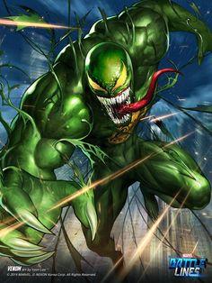 Marvel Battle Lines: Hydra Venom by Yoon Lee * Hydra Marvel, Marvel Venom, Marvel Villains, Dc Comics Superheroes, Marvel Comic Universe, Marvel Comics Art, Marvel Comic Books, Comic Book Characters, Marvel Dc Comics