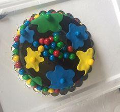 Wicked paintball splatter cake with chocolate balls! #paintball #cake #birthday