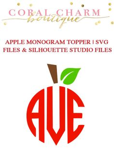 This is for a monogram apple topper graphic in two file formats: SVG and silhouette studio. Once purchased you will be able to download the