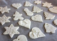 Vysušené dekorácie zo slaného cesta Cookies, Desserts, Christmas, Food, Decor, Hampers, Crack Crackers, Tailgate Desserts, Decorating