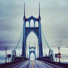 St Johns Bridge, Portland, Oregon by Michael Buchino