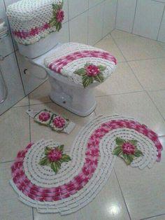 Resultado de imagem para pinterest juegos de baño crochet
