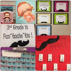 Mustache classroom theme!