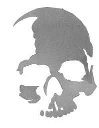 This stencil would look awesome in watercolour. Skull Stencil, Stencil Art, Skull Art, Graffiti, Leather Tooling Patterns, Airbrush Art, Scroll Saw Patterns, Cool Sketches, Skull And Bones