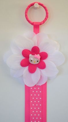 Hello kitty hair bow clip holder