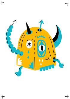 """Check out my @Behance project: """"horny_monster"""" https://www.behance.net/gallery/56950199/horny_monster"""