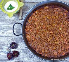 Arroz a banda - Rico no, ricote Arroz Frito, Polenta, Quinoa, Risotto, Food To Make, Chili, Brunch, Soup, Rice