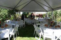 Small backyard wedding Small Wedding Receptions, Wedding Themes, Bella Wedding, Outside Wedding, Theme Ideas, Reception Decorations, Fairytale, Landscaping, Wedding Stuff