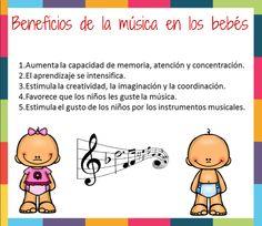 Estimulación Temprana beneficios de la musica en bebes