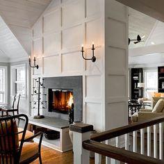 Beautiful design. Fireplace trimwork.