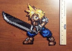 Cloud perler sprite from Final Fantasy 7 by Hirosspriteshop, $15.00