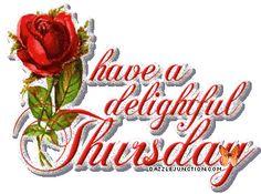 have a delightful Thursday