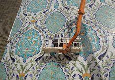 Le Grand Sud Algérien /photo du jour  Binyen l'atelier Boumehdi pour le palais des congrès d'Oran.  L'oeuvre figure parmi les plus grandes fresques en céramique  au monde