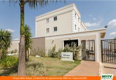Paisagismo do Bella Acqua. Condomínio fechado de apartamentos localizado em Valparaíso/ GO.